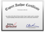 EzineArticles Certificate